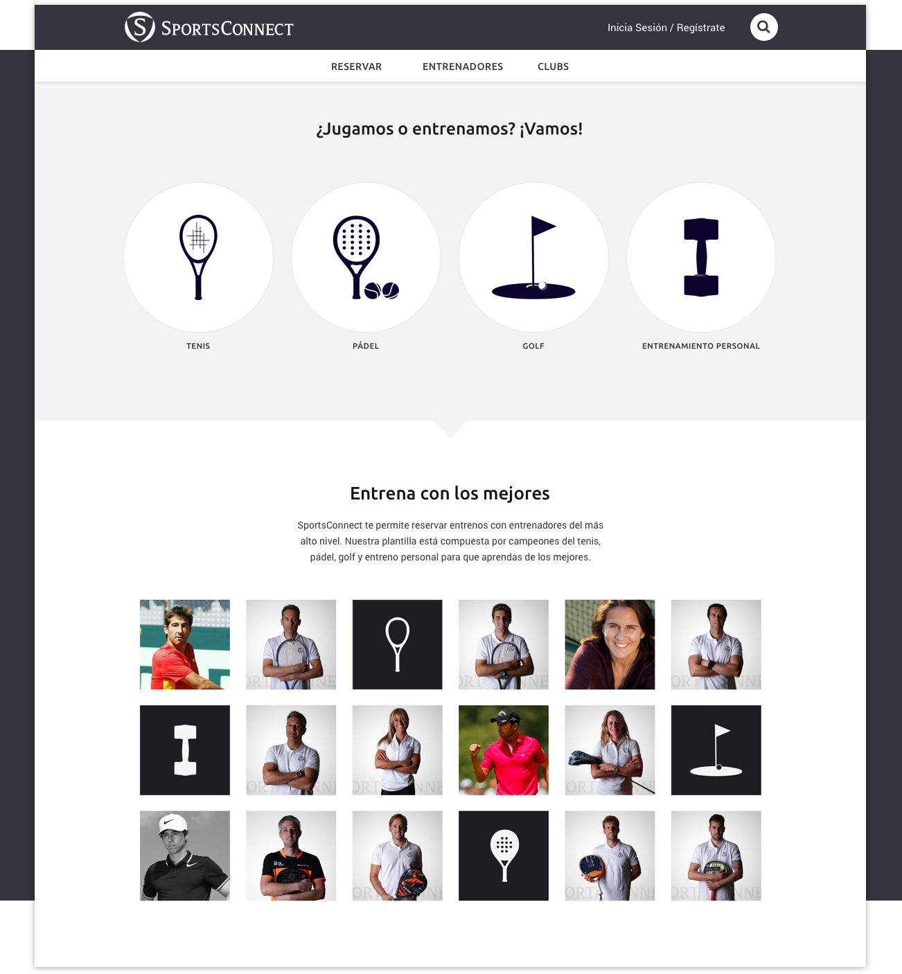 SportsConnect Homepage – by Utopig Studio