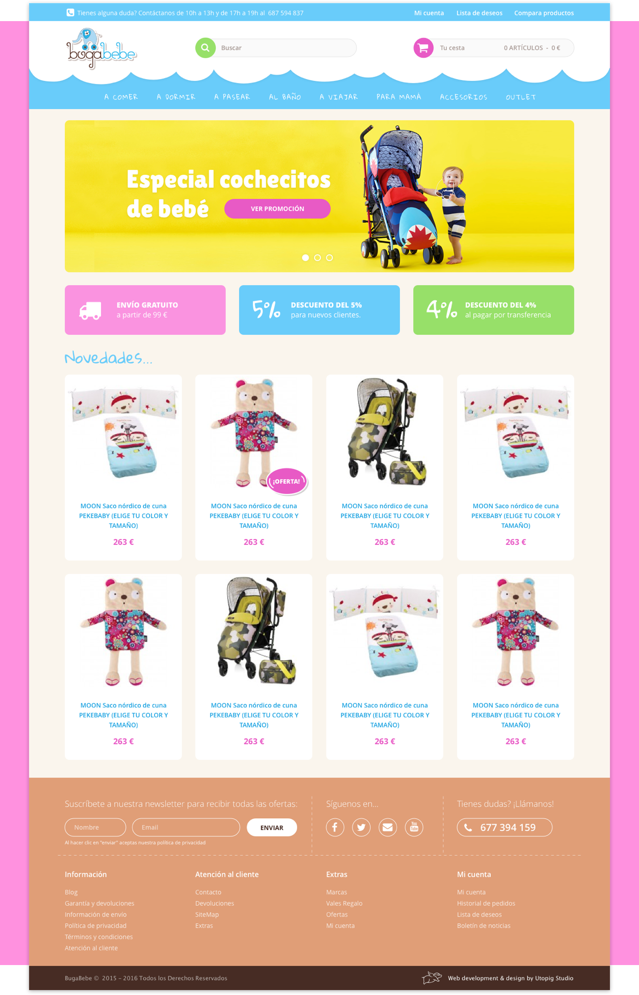 Bugabebe Homepage – by Utopig Studio