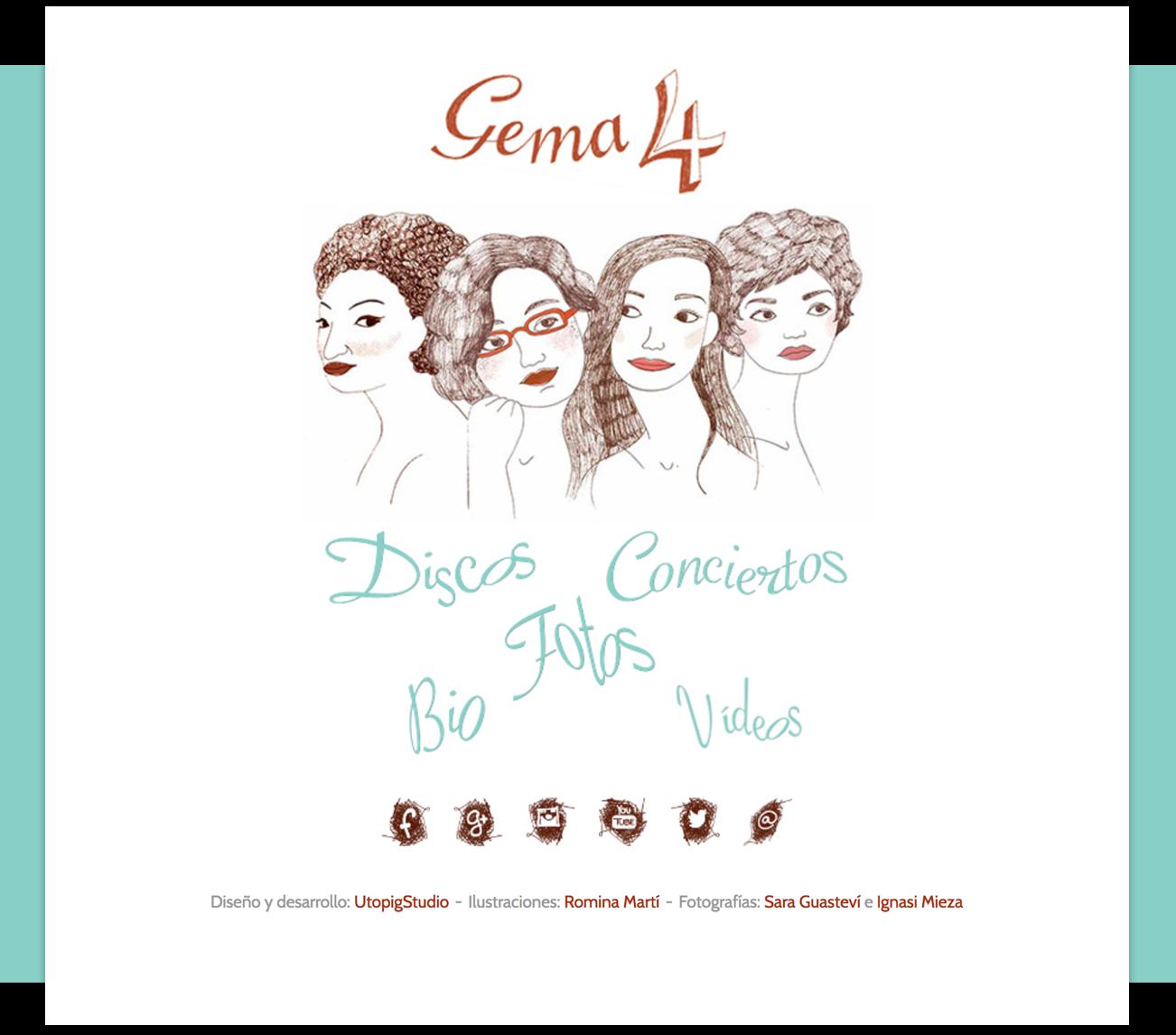 Gema 4 Homepage – by Utopig Studio