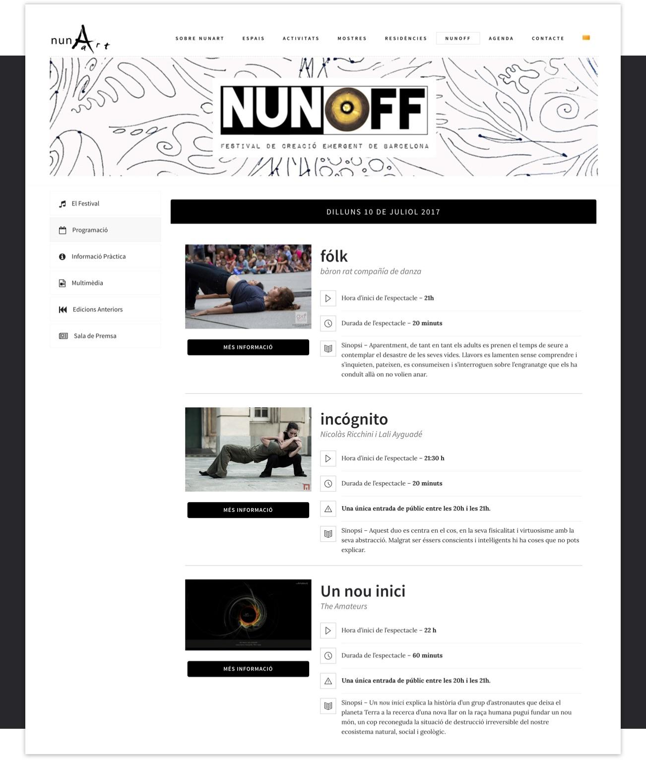 nunArt Innes Page – by Utopig Studio